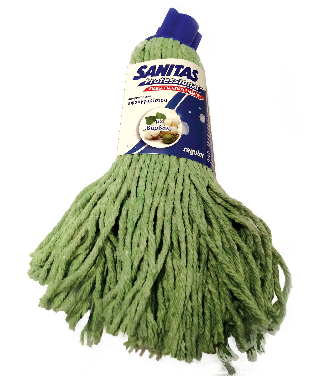 Σφουγγαριστρα με νήμα πράσινη Sanitas 275gr