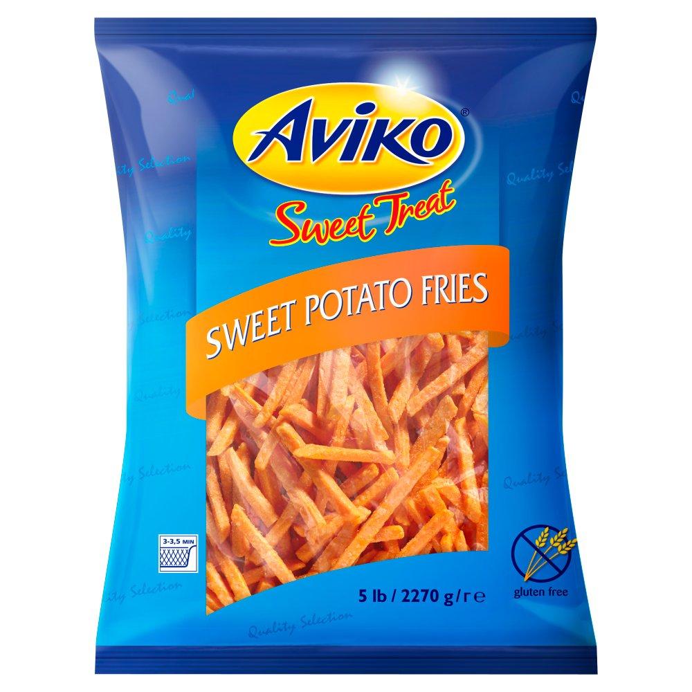 Aviko προτηγανισμένη γλυκοπατατα 3/8 2.27kg