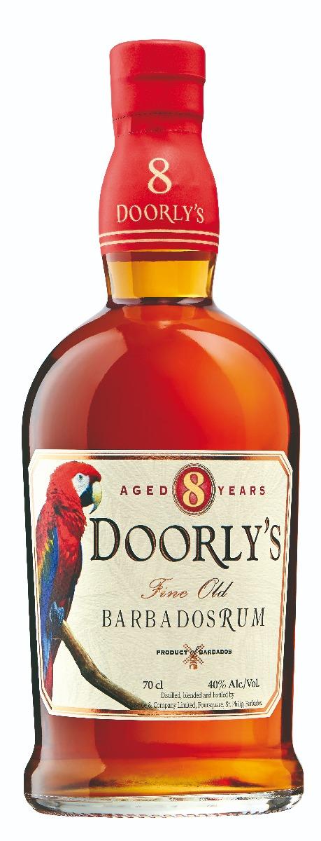 Doorlys 8 years Gold Rum 40% 70cl