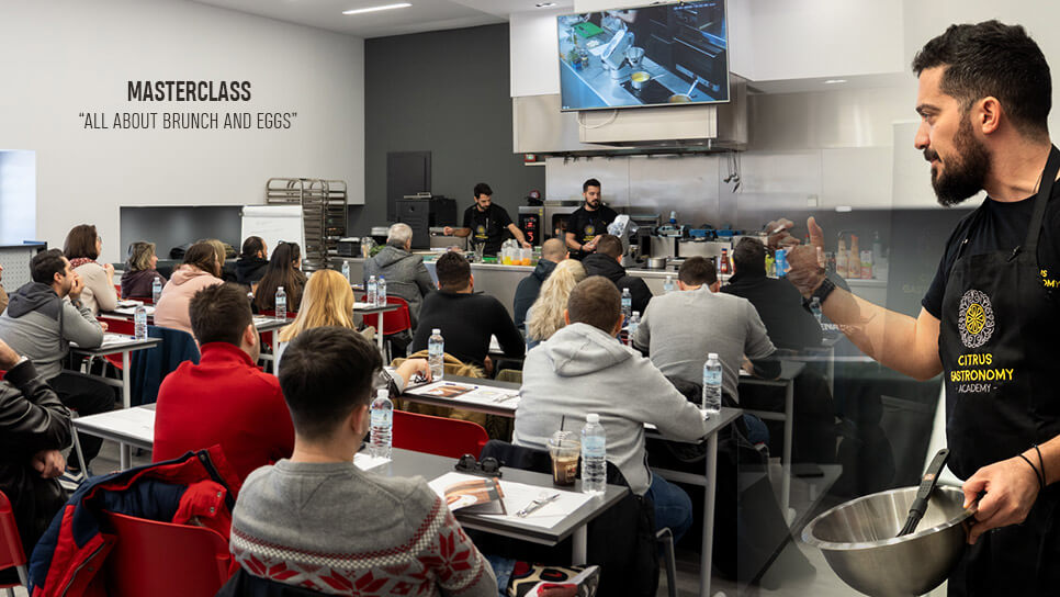 Masterclass all about brunch and eggs από τον Vasilis Sporos